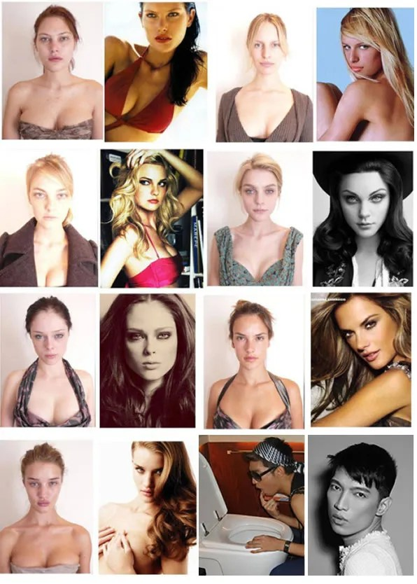 Supermodels - Before and After
