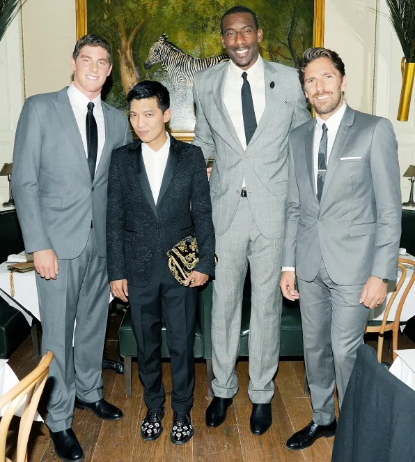 Bryanboy with Conor Dwyer, Amar'e Stoudemire and Henrik Lundqvist