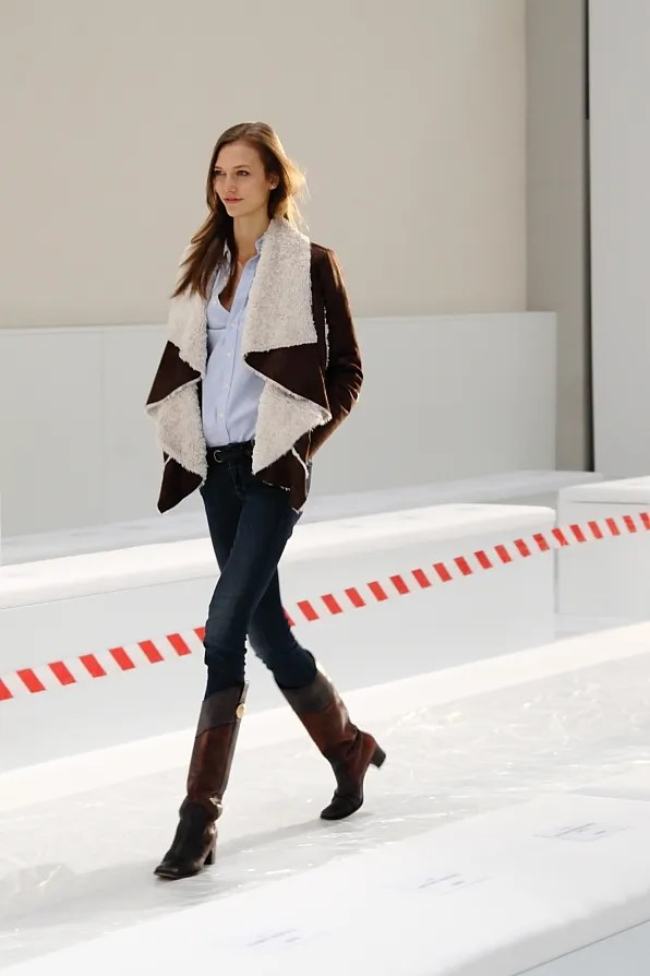 Karlie Kloss at Hugo Boss Fall Winter 2012 fashion show rehearsal