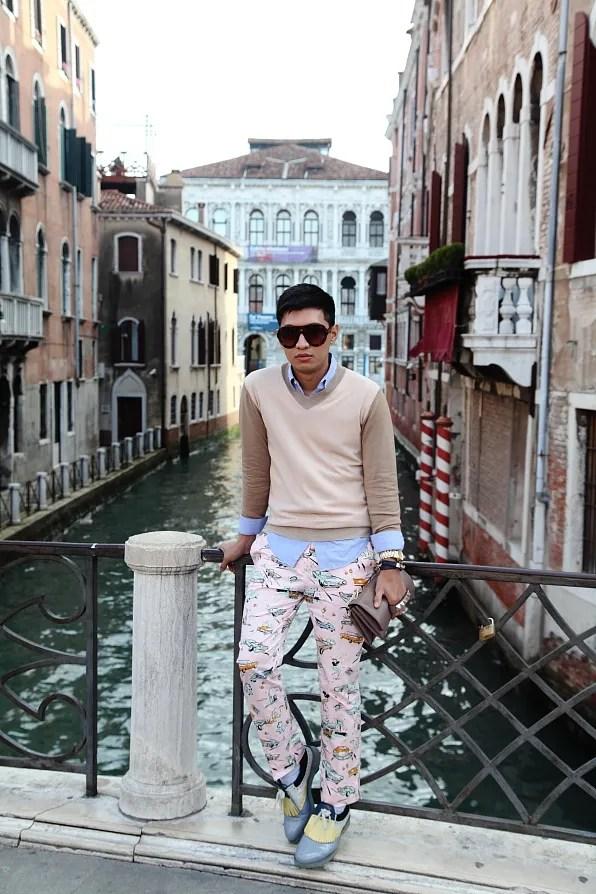 Bryanboy in Venice, Italy