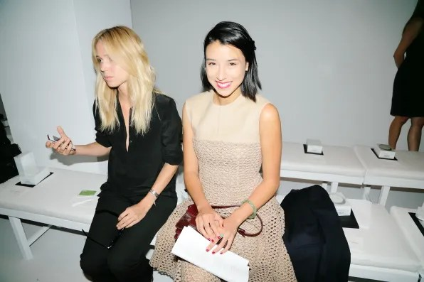 Elin Kling and Lily Kwong at Calvin Klein Collection spring 2013 fashion show