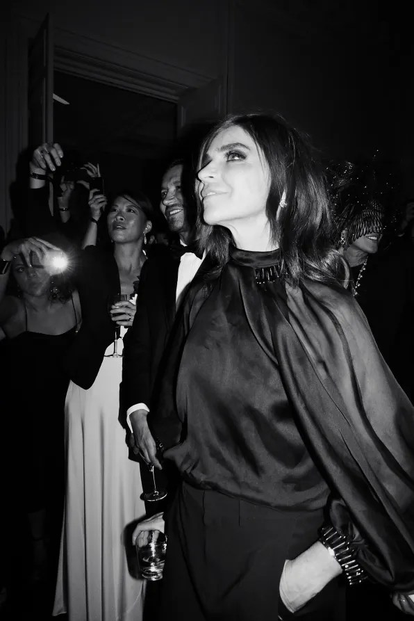 Carine Roitfeld at the Carine Roitfeld black-tie 'Le Bal' for MAC Cosmetics