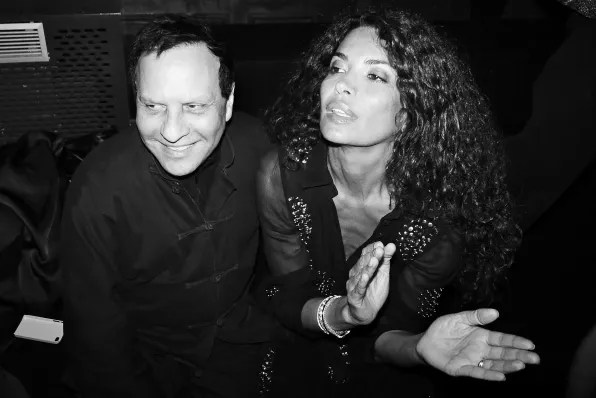 Azzedine Alaia at the Carine Roitfeld black-tie 'Le Bal' for MAC Cosmetics