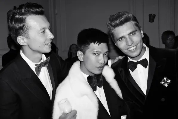 German Larkin and Bryanboy at the Carine Roitfeld black-tie 'Le Bal' for MAC Cosmetics
