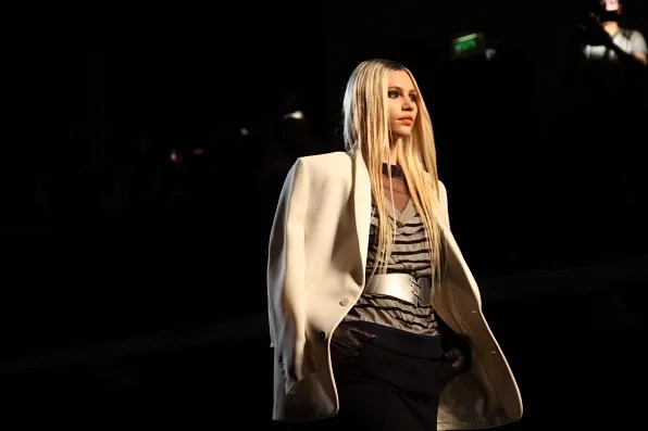 Aline Weber at Jean Paul Gaultier Fall Winter 2012 fashion show