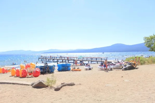 View of Lake Tahoe beach