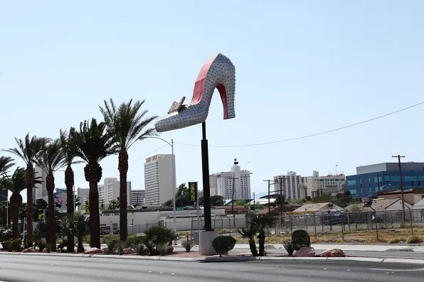 Shoe sign at Neon Museum, Las Vegas