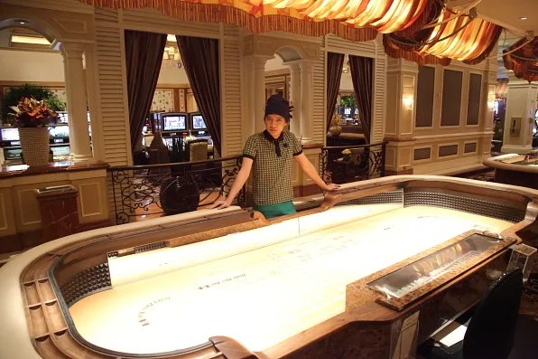 Bryanboy in front of a table game at Bellagio Las Vegas