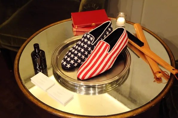 Louis Leeman Paris shoes fall winter 2012 american flag stars and stripes slippers