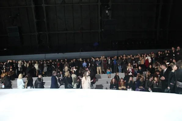 Audience at Marc Jacobs fall winter 2012 fashion show