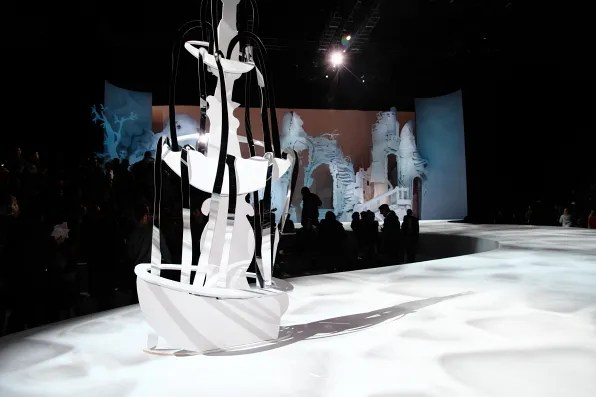 Installation by artist Rachel Feinstein at Marc Jacobs fall winter 2012