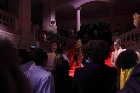 Entrance of Les Arts Decoratifs museum at Louvre for Louis Vuitton Marc Jacobs exhibition