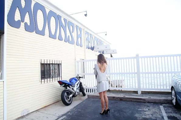 Rumi Neely at Moonshadows restaurant, Malibu, California