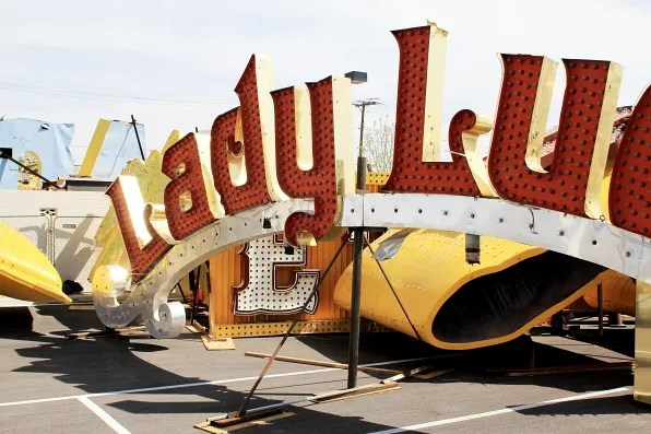 Lady Luck sign at Neon Museum Las Vegas