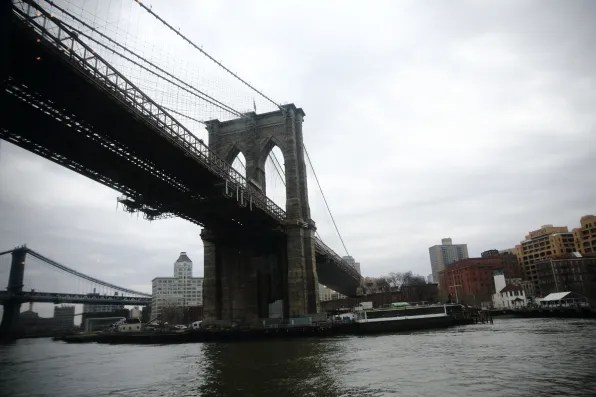 View of Brooklyn Bridge from Spirit of New York