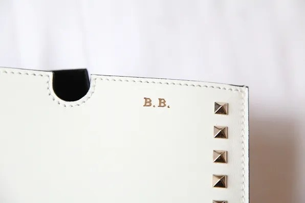 BB initials on Valentino iPad case