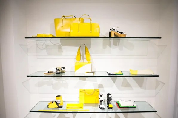Yellow accessories from Calvin Klein Collection Resort 2014