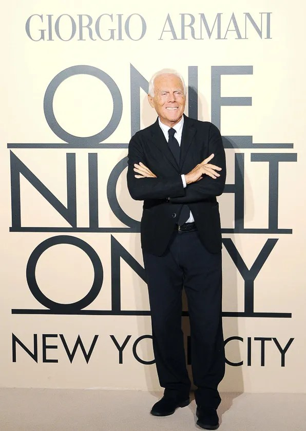 Giorgio Armani at Armani One Night Only New York City event