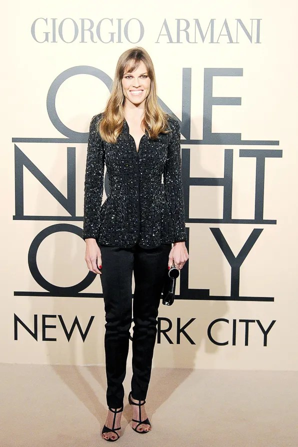 Hilary Swank at Giorgio Armani One Night Only New York City event
