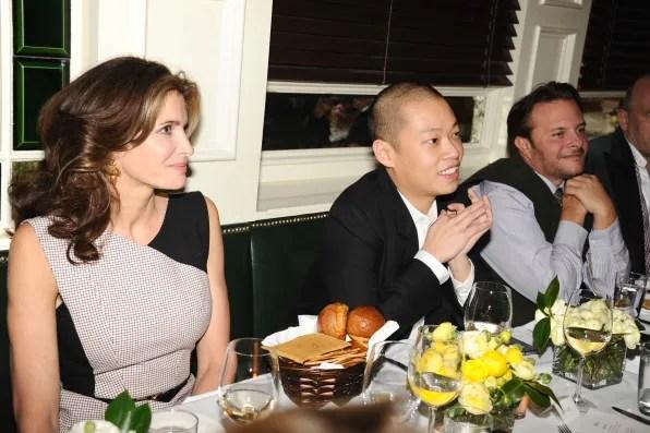 Stephanie Seymour, Jason Wu and Ivan Bart at Jason Wu x Cindi Leive dinner