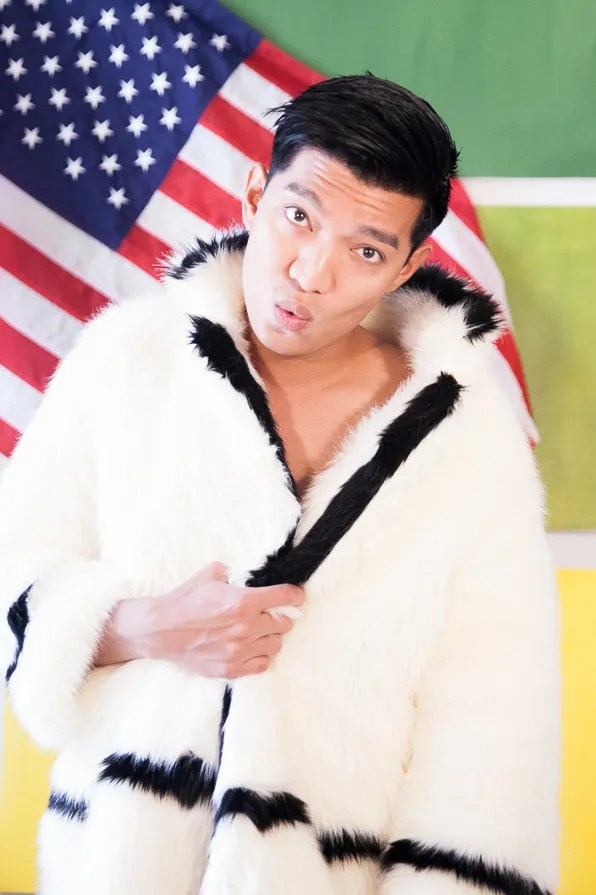 Bryanboy wearing a faux fur coat from H&M Fall Winter Paris 2013 Collection