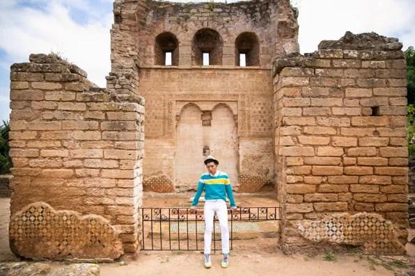 Bryanboy at Kasbah Chellah, Rabat Morocco