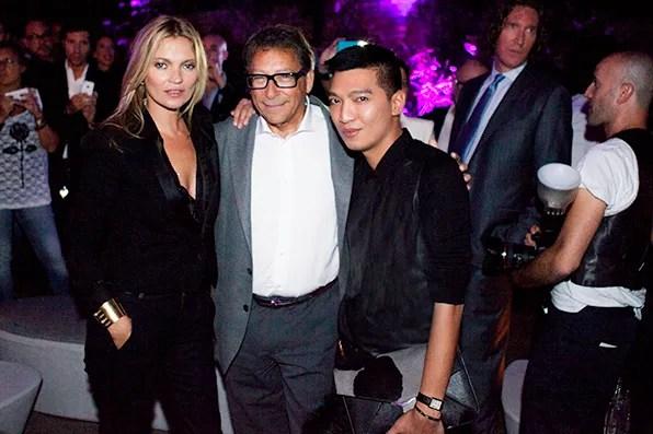 Kate Moss, Stuart Weitzman and Bryanboy at Stuart Weitzman, Milan