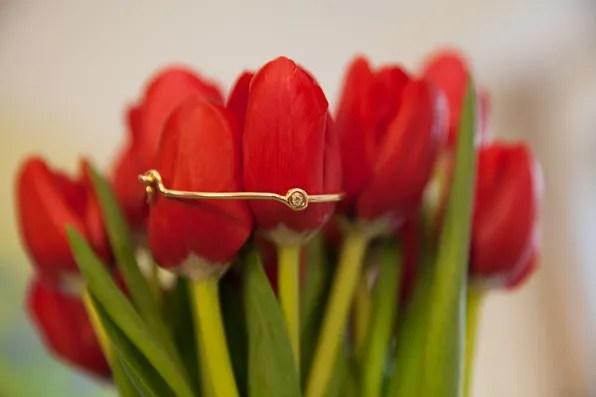 Gold Janis Savitt bracelet