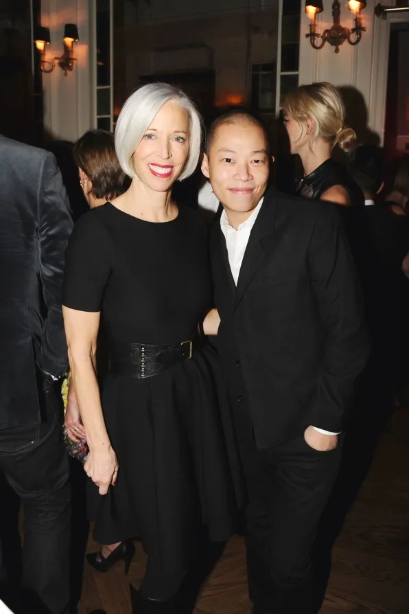 Linda Fargo and Jason Wu at Beatrice Inn