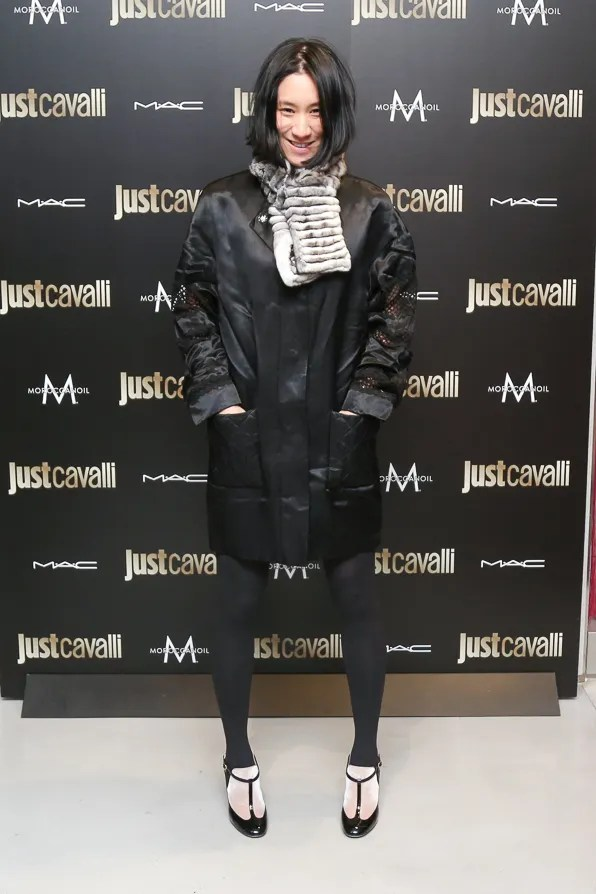Eva Chen of Lucky Magazine attends Just Cavalli NYC Soho store opening