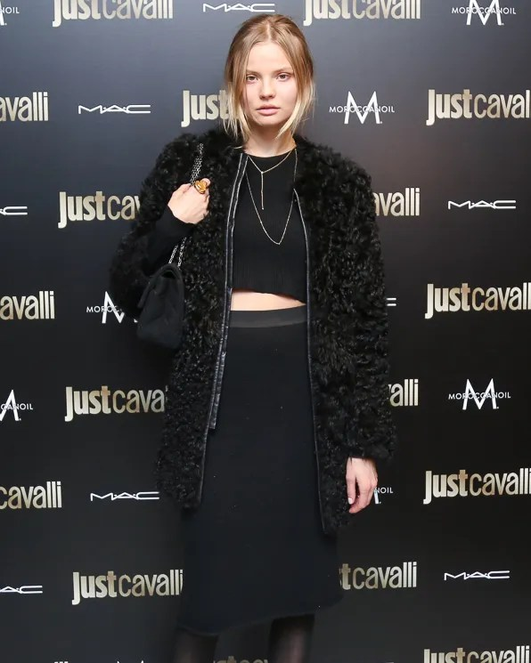 Magdalena Frackowiak at Just Cavalli NYC Soho store opening
