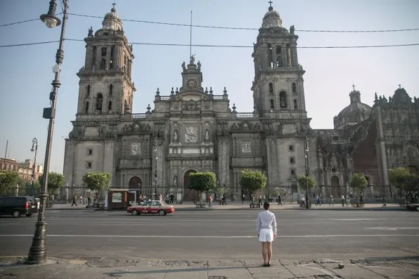 Bryanboy in front of Metropolitan Cathedral Mexico City