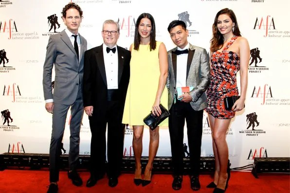 Uri Minkoff, Rebecca Minkoff, Bryanboy and Alyssa Miller at 2013 AAFA Image Awards