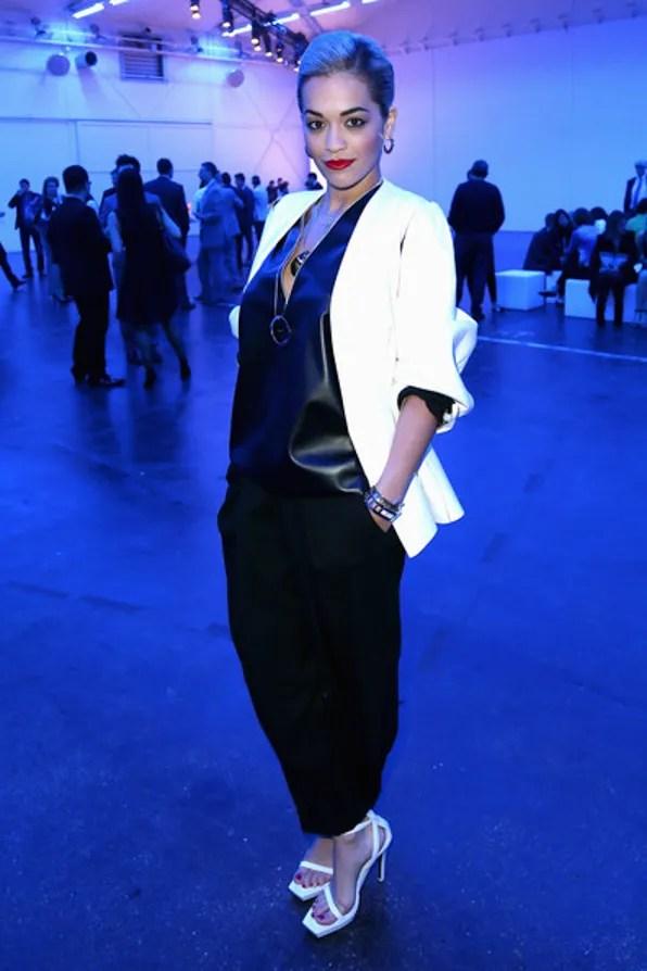 Rita Ora in Calvin Klein at BaselWorld 2013
