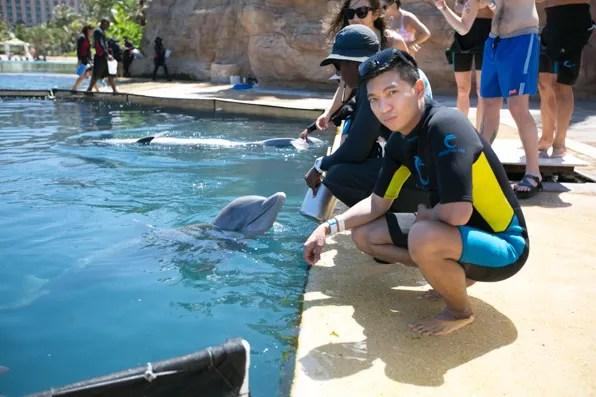 Bryanboy feeding dolphins