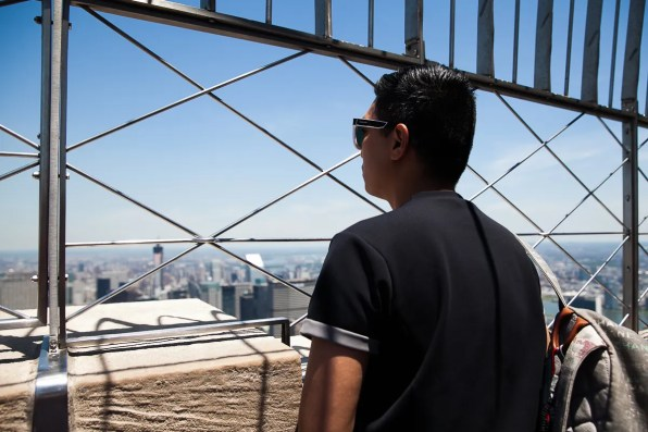 Bryanboy at the viewing deck of the Empire State Building, New York