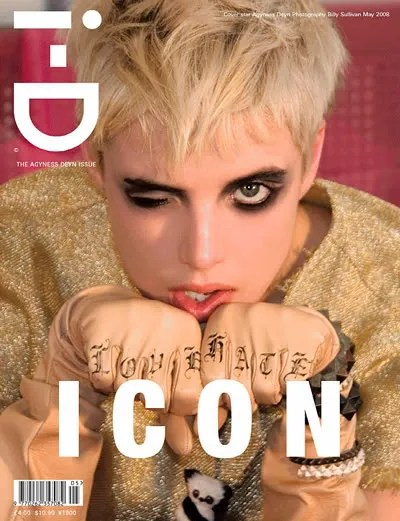 Agyness Deyn for i-D magazine may 2008 cover.