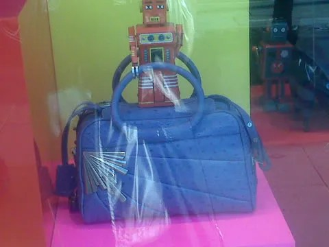 Marc Jacobs ostrich BB bag at Selfridges, London