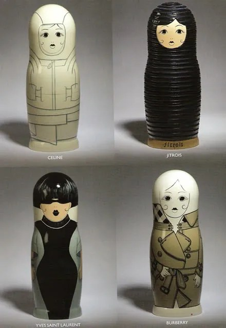 Russian Matryohska Dolls - Celine, Jitrois, Yves Saint Laurent and Burberry