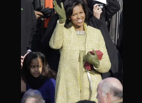 Michelle Obama yellow dress by Isabel Toledo