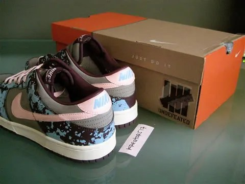 Nike Dunks Undefeated Splatter Paris sneakers