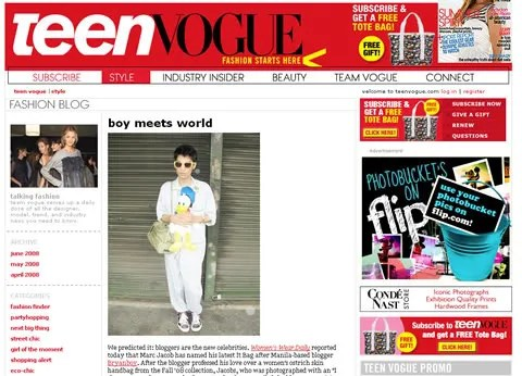 Bryanboy Teen Vogue