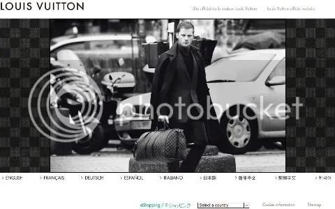 Louis Vuitton Website: Damier Graphite Landing Page