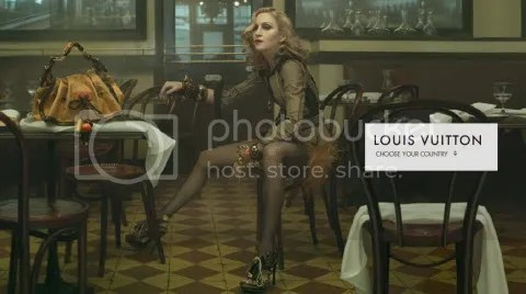 Louis Vuitton Website: Madonna