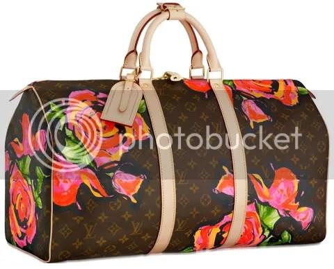 Louis Vuitton Monogram Roses Keepall 50
