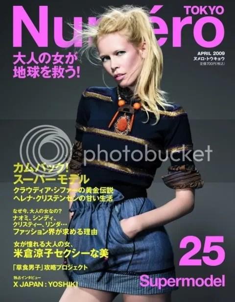 Numero Tokyo #25 April 2009: Claudia Schiffer