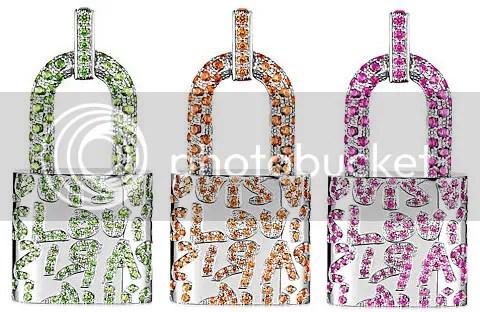 Louis Vuitton Sprouse Padlock Pendant