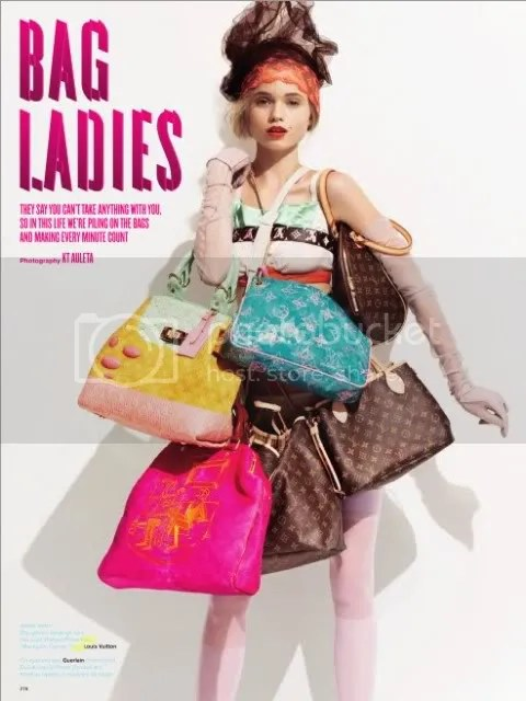 V Magazine Spring 2008 Editorial: Bag Ladies