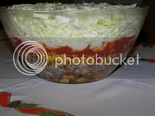 Sałatka z kurczakiem Gyros salatki przystawki latwe codzienne  przepis foto