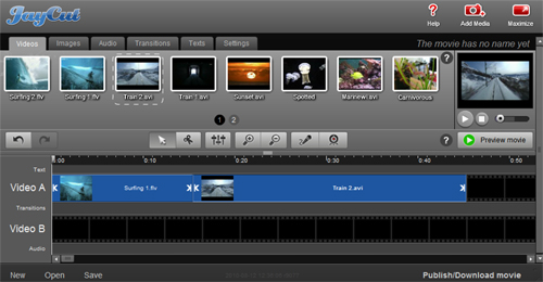 Editor de vídeos online gratis